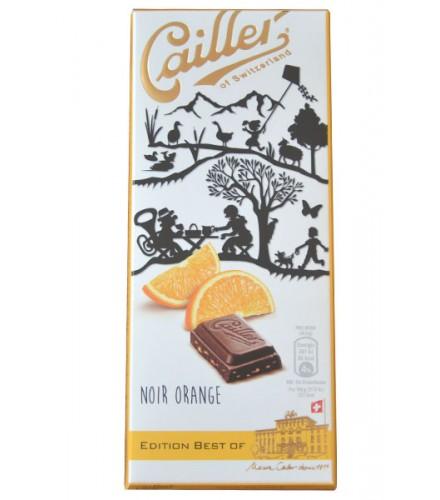Chocolate negro y naranja