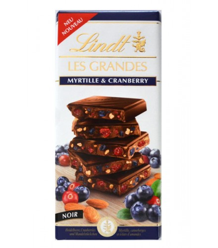 Les Grandes - dark with Myrtille & Cranberry 150g