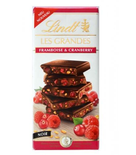 Les Grandes - noir aux framboise & cranberry 150g