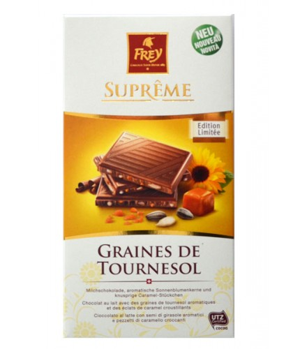 supr me graines de tournesol 100g fabriqu par frey chocolat. Black Bedroom Furniture Sets. Home Design Ideas