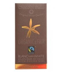 Blanc fèves de cacao , 100g