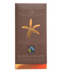 White with cocoa beans