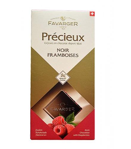 Précieux - Chocolat Noir framboises 100g