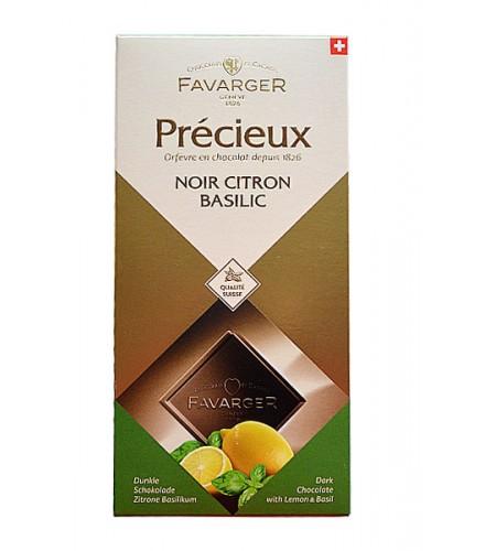 Précieux - Chocolate negro limón y albahaca 100g