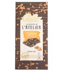 Chocolat Noir - Caramel pointe de sel 115g