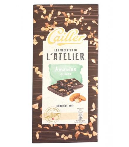 Chocolate Negro - Almendras tostadas 115g