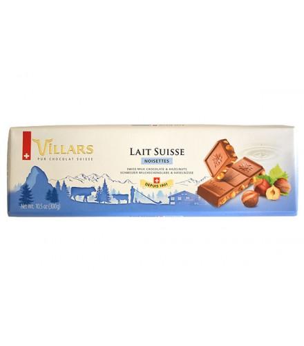 Chocolat au lait suisse aux éclats de noisettes