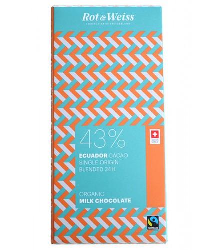 Ecuador cocoa 43% Milk Organic 90g
