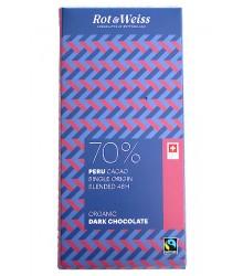 Peru cacao 70% Noir organique 90g
