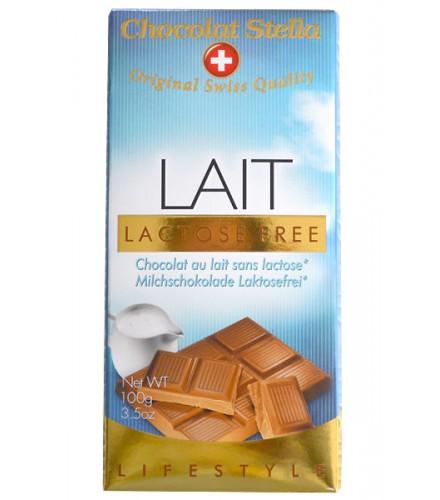 Chocolat au lait sans lactose 100g