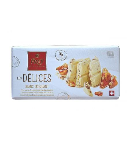 Les Délices Chocolate blanco crocante 100g
