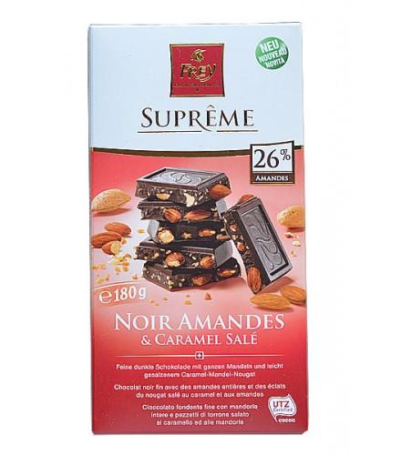 Noir Amandes & Caramel Salé 180g