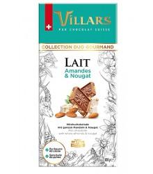 Chocolate de leche con almendras y nougat