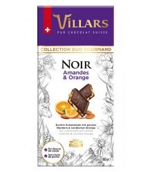 Negro con almendras y naranjas