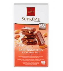 Suprême milk almond and salted caramel 180g