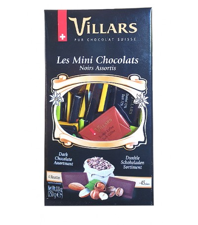 Villars assorted mini dark chocolates - 250 g