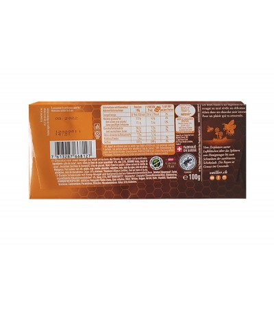 Rayon dark with honey nougat 100g