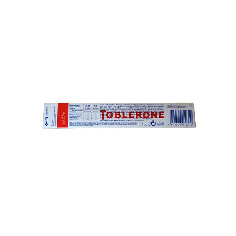 Toblerone White Chocolate 360g Made By Toblerone
